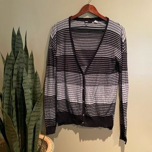 URBAN OUTFITTERS BDG BUTTON DOWN STRIPE CARDIGAN